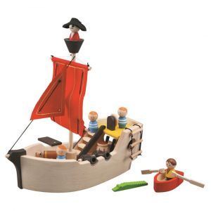 barco pirata madera plantoys