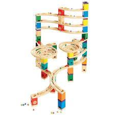 juego construccion madera canicas