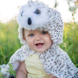 capa búho bebé disfraz