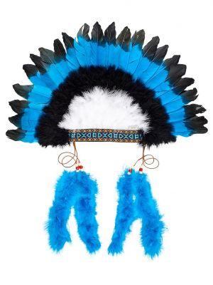 penacho indio plumas disfraz