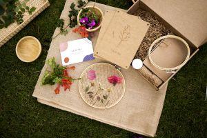 prensahojas flores bastidor lily&mel