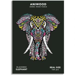 PUZZLE elefante MADERA ANIWOOD
