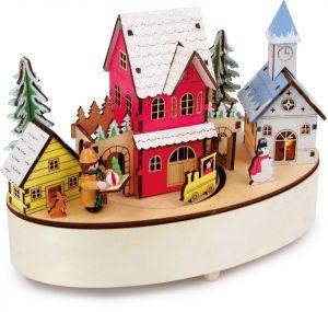 escena navidad musica madera