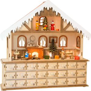 calendario adviento madera salón